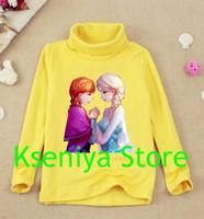 Hot 2014 Frozen princess frozen costume kids t shirt frozen clothing girl t shirt 100 cotton 2-12Age summer cartoon t shirt
