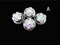 60pcs/lot Free Shipping Bling Bling Crystal Rhinestone Hair Twists Spins Pins. Wedding Bridal Hair Pins. Free Shipping