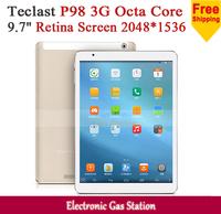 "New Teclast P98 3G Octa Core MT8392 Android 4.4 2G RAM 16G ROM 9.7"" Retina Screen 2048*1536 Dual Camera 13MP Phone Tablet PC"