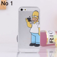 1PCS Top fasion transparent Grind arenaceous hard cases For apple iphone 5 5S case the homer simpson simpsons gasp logo clear