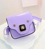 Free shipping 2015 summer candy color women leather handbag mini pig design women's messenger bags l1065