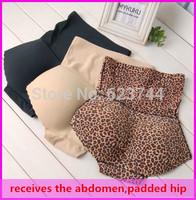 high waist receives the abdomen Bottom Seamless Padded hip pants Body type a fake ass underwear abundant buttocks breathable