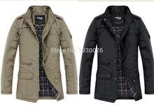 Hot Sale Spring Autumn Winter 2014 New Men's Men Jacket Coat Slim Clothes Warm Overcoat Casual Outwear Mandarin collar Eur style(China (Mainland))