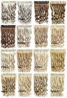 5 Clips In Hair Synthetic Hair Extensions Body Wave Women Wig Hair Hairpiece ponytail 50 colors available,130g,60cm 03020