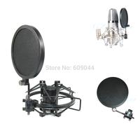 Wholesale/retail Mini MIC Microphone Anti pop Shield Filter Screen Single Flex Mic Pop Filter 8cm