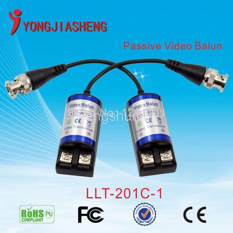 CCTV 1CH Passive UTP Video Balun Transceiver BNC Cat5 Free Shipping(China (Mainland))