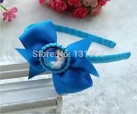 "10 pcs 4"" Bottle Caps bows frozen Elsa Anna hair headband bows  boutique hair bows kids Xmas gift hair accessories"