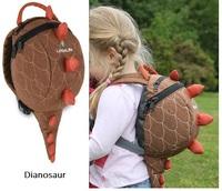 New Arrive Little Life baby bakpack girl/boy 3D Dinosaur baby safe belt bag w/ Safety Kid Harness Strap for kids/child protect