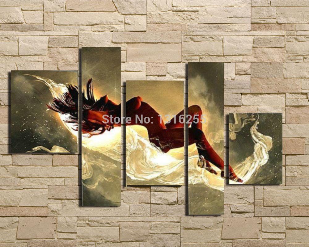 Pop scherm hand geschilderd canvas moderne decoratieve abstracte kunst