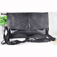 2014 new crocodile women handbag shoulder cross-body bag envelope evening bag women clutch bag messenger bag,ANS-SL-689