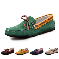2014 Genuine Suede Man Shoes Bestselling Leather Men's Flats Casual Shoes Driving Moccasins Low Top Business shoes for Men
