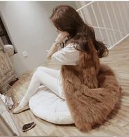 2014 Autumn Winter Faux Fur Vest Colete De Pele Falso Winter Jacket Casacos Femininos Womens Coat Plus Size Free Shipping WWC047