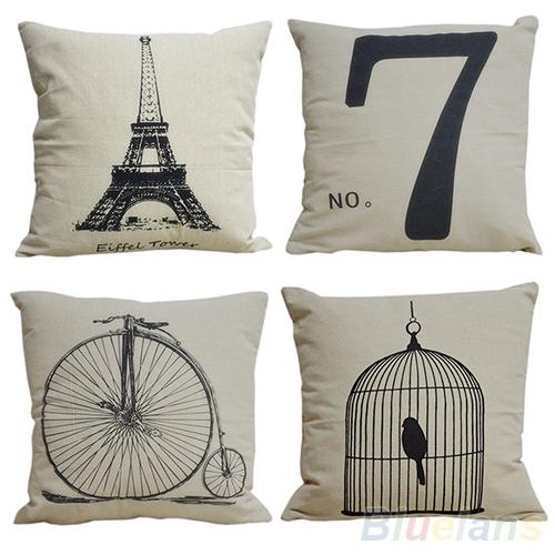 "Fashion Decorative Home Pillow Covers Room Decors Throw Car Cushion Covers 17"" bedding set 00EW(China (Mainland))"