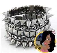 Punk Rock Style Rivet Design Stud Bangles Jewelry Too Cool for School