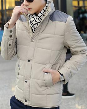Бесплатная доставка 2014 Большой размер ветрозащитный молния теплый Abrigo Invierno хомбре стенд воротник сгущает мужская мода пальто 010-140604007