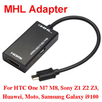 1080P MHL Micro USB to HDMI HDTV Cable Adapter for Galaxy S2 i9100 i9220 One M7 M8 Xperia Z1 Z2 Z3 Mobile Phone