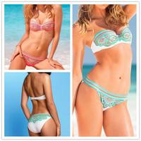 BK117 Women Bikini Swimwear Hot Sale 2014 Fashion Brand Quality Sexy Floral Print Swimsuit 2 Design Bikinis Set