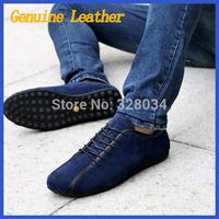 2014 HOT SELL Popular Men Shoes Flat Genuine Leather Driving Moccasins Slip On men's shoe Men footwear casual shoe men's flats