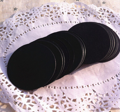 Antique black Paper Tags Lace round with Lovely Swirl Edges for Wedding Decoration/DIY Card Making/Scrapbooking,free shipping(China (Mainland))