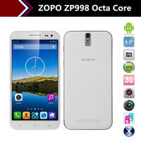 "Original ZOPO ZP998 5.5"" MTK6592 Octa Core1.7GHz 2GB RAM 16GB ROM 14.0Mp Camera 1920*1080 ZP998 Phone Multi-Language"