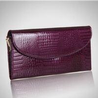 Wholesale Leather Clutch 2015 New Fashion Crocodile Women Handbag Solid Color Clutch Pretty  Women Purse Hot Sale Evening Bag