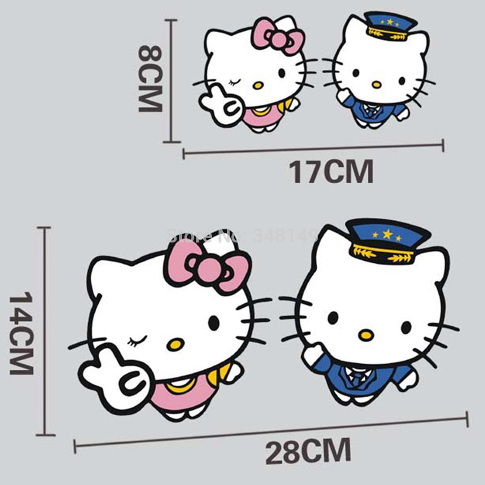 Car sticker design selangor - Option J Hello Kitty Couple Car Sticker 17cm X 8cm