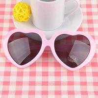 Candy Color Retro Heart Shape Sweetheart Vintage Sunglasses Summer Lolita Eyeglasses Fashion Stylish Eyewear 8 Colors Y10 MPJ032