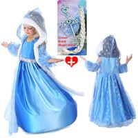 2014 new Frozen Elsa Anna costume princess dress sequined cartoon costume Free shipping girls dresses. Free shipping!