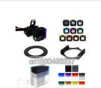 for Cokin P 82mm ring Adapter + 10pcs square color filter + Filter box + filter holder+free shipping +tracking number