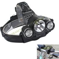 Bike Accessories Bicycle Light 3*XM-L 5000 Lumens T6 LED Headlight Bicycle Flashlight Free Shipping OT05
