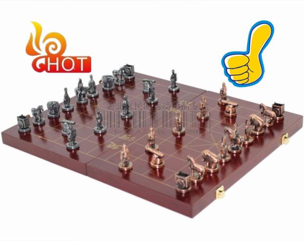 сделано с метал шахматы китайские шахматы упаковываться в большой Шерстяной Совет, с, atb05