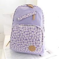 Women Printing Backpack,Canvas Backpack,Small fresh doodle print cartoon backpack school bag girls laptop bag backpack