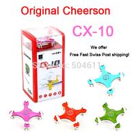 Fast Free shipping Cheerson CX-10 CX10 Mini 2.4G 4CH 6 Axis LED RC Quadcopter RTF