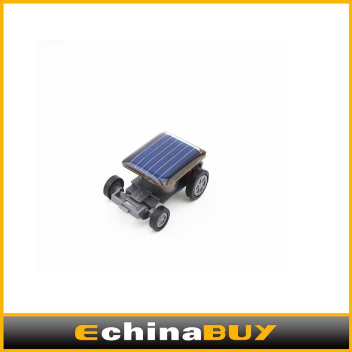 10PCS/Lot smallest solar energy car mini intelligent toy car Solar Energy Toy wholesale(China (Mainland))