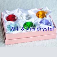 Free Shipping!50MM Diamond ,6pcs,Colorful K9 Crystal Diamond Set for Home Decoration,Wedding Display Decoration