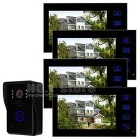 7 inch Color Monitor Door Phone Doorbell Intercom 1 Camera 4 Monitors Home Security Intercom System Kit SY806MJ14