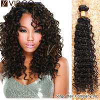 Cheap Indian Curly Hair 4pcs/lot Indian Virgin Hair Deep Wave Products  Human Hair Extension