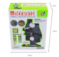 Portable Children education mini microscope lens student microscopes w/ Reflecting Mirror & Lamp (education toy)+freeshipping