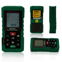 New MASTECH MS6418 Laser Distance Meter Tester Rangefinder Tape Measure Level Tool 80m 262ft