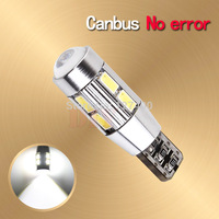 2pcs led T10 W5W 194/501 canbus,10 led SIGNAL BULB SMD5630 LENS FREE ERROR ,Auto Indicator ,168 501 LED BULB CANBUS LED