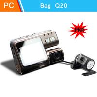 Black box Q20 hd dual lens mount hd mini wide angle night vision driving recorder