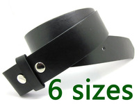 20pcs/lot  Black color Snap on belt , strap belt for belt buckle, free shipping