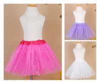 New fashipn 2014 Star Glitter Sparkle Tulle kids cloth Tutu Ballet Girl Dance Skirt  kids cloth  girls tutu skirt free shipping
