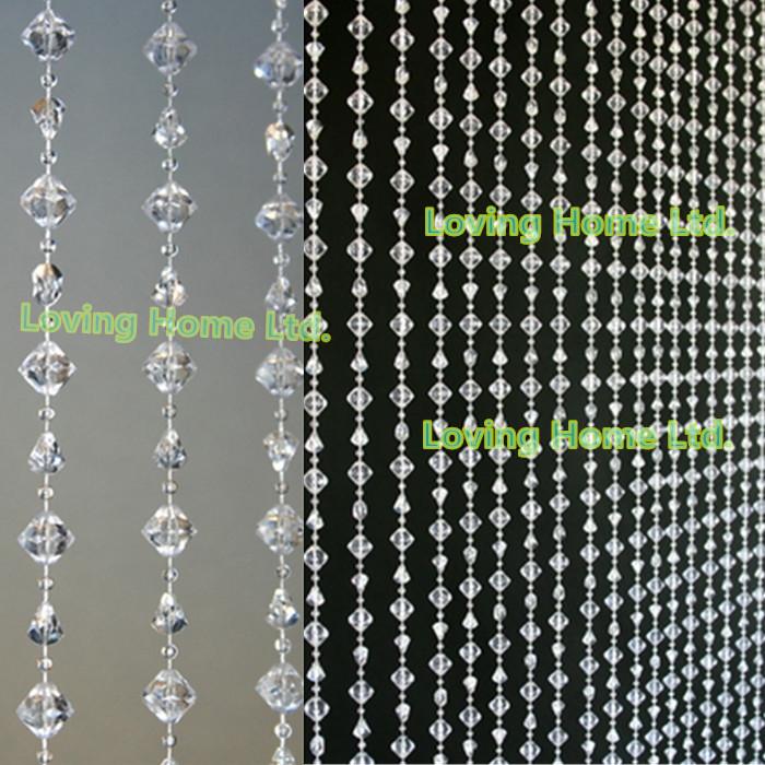 14mm Diamond Garland Hanging Acrylic Crystal Gemstone Bead Gem Curtain ...