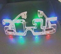 LED Flashing Eye Glasses Party Prom Supplies Bar Club Decorations Light Up Toys Electronic Products 2015 New