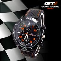 New Arrival Original 2014 Brand Quartz Men Sports watch Casual Watches F1 GT Wristwatch Dropship Silicone Clock Fashion Hours
