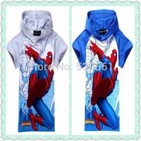 1pcs New 2015 boys t shirt girls nova top t-shirts for kids baby children's spiderman summer cartoon children t shirts clothing