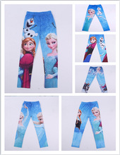 High Quality New 2014 Romantic Cotton Frozen elsa Baby Kids legging Girls Leggings Children Frozen Legging(China (Mainland))