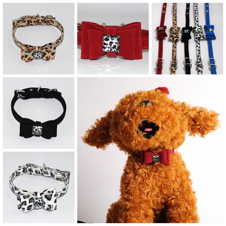 Common pet supplies small dog fashion dog collar pet collar Teddy bow collar XQ23(China (Mainland))