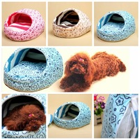 pet dog soft bed for dogs with warm cotton sweet slippers puppy & Cat dual-use sleeping nest PN06